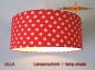 Preview: lamp shade ULLA Ø 45 cm red with dots flowers