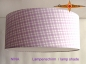 Preview: lamp shade NINA Ø 45 cm light purple squared