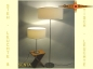 Preview: SET: Floor & table-lamp SENTA h 155 cm light natur