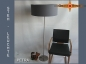 Preview: Floor lamp PETRA h 155 cm stone grey twill
