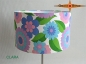 Preview: Vintage Table lamp CLARA retro design flowers 70s