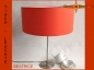Preview: Orange table lamp BEATRICE table lamp linen