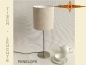 Preview: Small table lamp linen PENELOPE