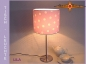 Preview: Table lamp LILA Ø 20 cm dots on light purple
