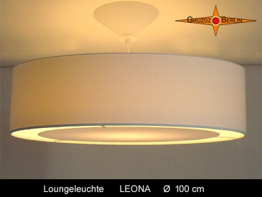 Large lounge lamp LEONA Ø100 cm pendant lamp with light edge diffuser