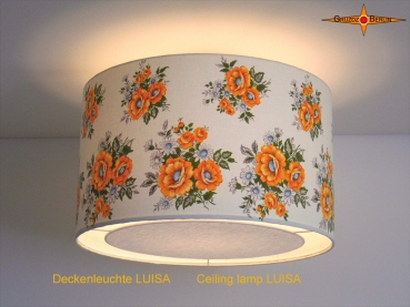 Ceiling lamp made of vintage fabric LUISA Ø50 cm Ceiling light with diffuser