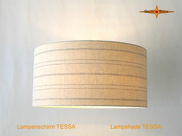 Linen lampshade with stripes TESSA Ø50 cm