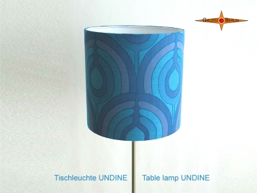 Blue Vintage table lamp UNDINE and table lamp in Panton style