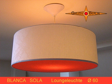 White lamp with orange diffuser BLANCA SOLA Ø60 cm pendant lamp pendant lamp
