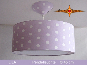 Lamp LILA Ø 45 cm pendant lamp with light edge and canopy lilac