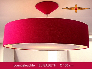 Large pendant lamp ELISABETH silk with light edge diffuser