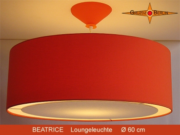 Orange hanging lamp BEATRICE Ø60cm with diffuser