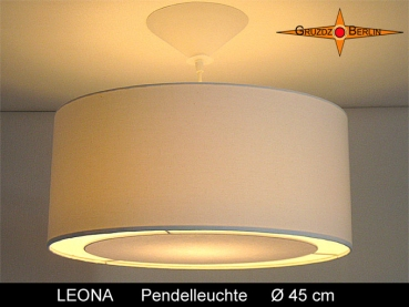 Pendant light beige LEONA Ø45 cm hanging lamp with diffuser light edge