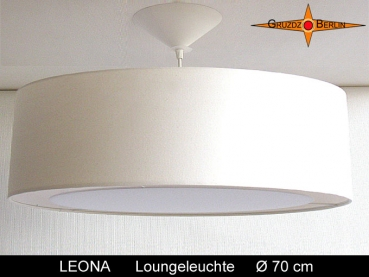 Large hanging lamp LEONA Ø70 cm pendant light with diffuser cream