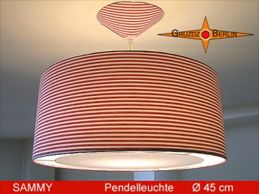 Lamp SAMMY Ø 45 cm, pendant lamp with light edge and canopy, ring