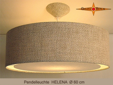 Large lamp HELENA Ø60 cm hanging lamp with diffuser linen special offer