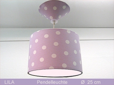 Lamp LILA Ø 25 cm pendant lamp with diffuser and canopy dots