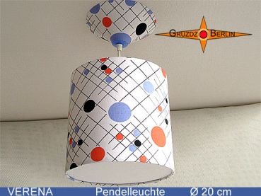 Lamp VERENA Ø20 cm pendant lamp with diffuser and canopy 70s dots