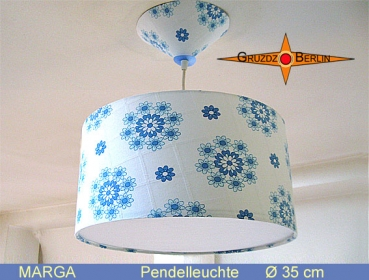 Lamp MARGA Ø 35 cm pendant lamp with diffuser and canopy Retro