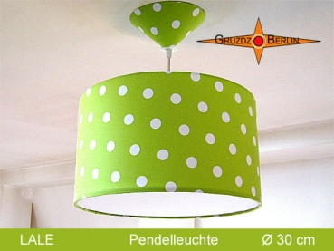 Children's lamp green LALE Ø30 cm pendant lamp diffuser dots