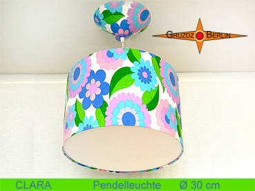 Vintage lamp CLARA Ø30 cm pendant lamp with diffuser prilflowers