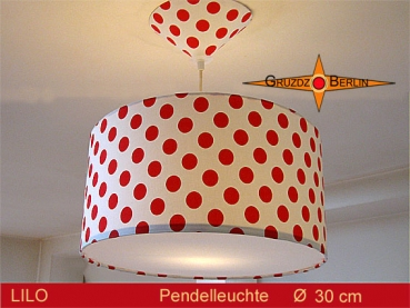 Lamp LILO Ø 30 cm pendant lamp with diffuser and canopy dots