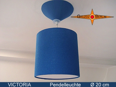 Lamp VICTORIA Ø 20 cm pendant lamp with diffuser and canopy silk