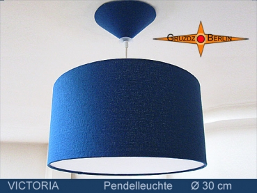 Lamp VICTORIA Ø 30 cm pendant lamp with diffuser and canopy silk