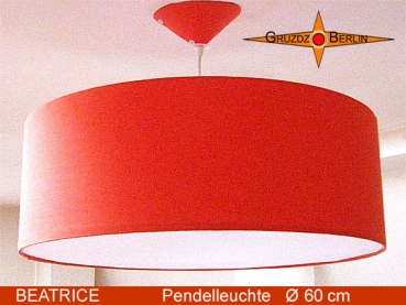 Hanging lamp orange BEATRICE Ø60 cm pendant lamp with diffuser