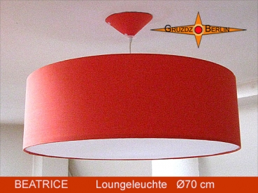 Lounge lamp BEATRICE Ø 70 cm pendant lamp with diffuser and canopy orange
