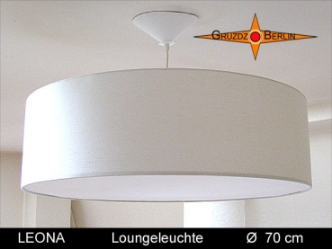 Large lounge light LEONA Ø70 cm hanging lamp with diffuser