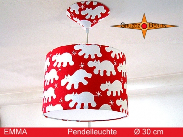 Children lamp EMMA Ø30 cm pendant light hippo red