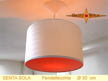 Lamp SENTA SOLA Ø 30 cm pendant lamp with diffuser and canopy WOW