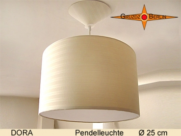 Small pendant light beige DORA Ø25 cm hanging lamp diffuser