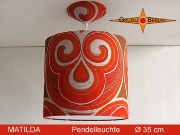 Lamp MATILDA Ø 35 cm pendant lamp with diffuser and canopy Retro