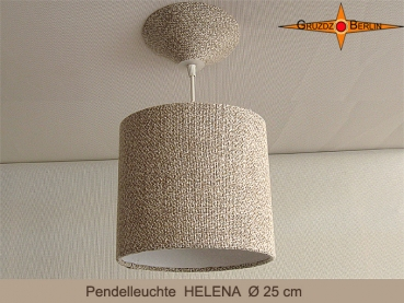 Small linen lamp HELENA Ø25 cm hanging lamp with canopy diffuser