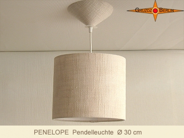 Hanging lamp out of linen PENELOPE d 30 cm with diffuser