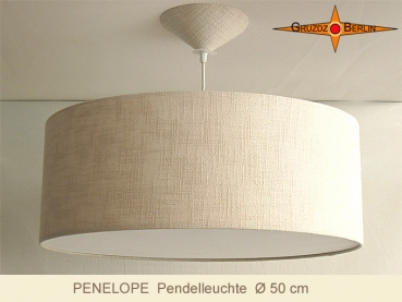 Loungelamp of linen PENELOPE d 50 cm with diffuser