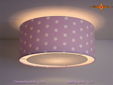 Purple ceiling lamp with dots LILA Ø45 cm and light edge diffuser
