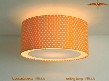 Yellow ceiling lamp with points YELLA Ø45 cm