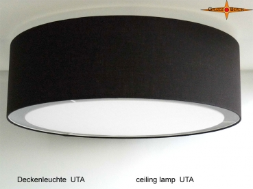 Black ceiling lamp UTA Ø45 cm with diffuser