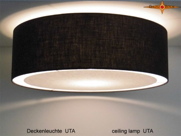 Black ceiling lamp UTA Ø60 cm with diffuser
