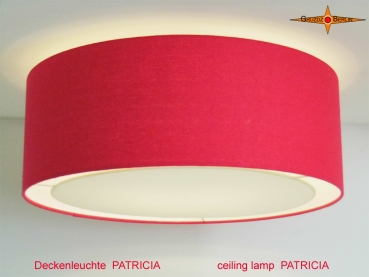 Red ceiling lamp PATRICIA Ø50 cm ceiling lamp with diffuser of linen