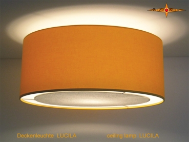 Yellow ceiling light LUCILA Ø50 cm ceiling lamp with diffuser