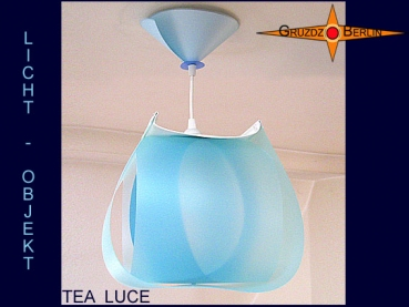 Lamp TEA LUCE light object with canopy translucent
