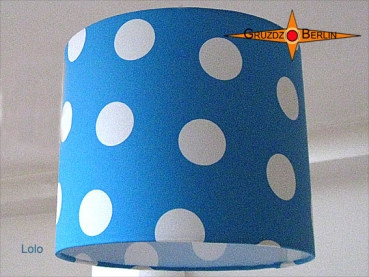 lamp shade LOLO Ø 25 cm dots on blue