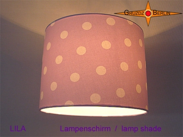 lamp shade LILA Ø 25 cm dots on violet kids lamp