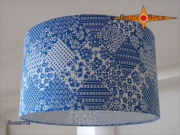 lamp shade SUSANNA Ø 35 cm original Prilflower blue