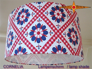 lamp shade CORNELIA Ø 30cm original fabric of 70s