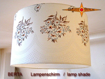 Vintage lamp shade BERTA Ø 40 cm Country-style flowers